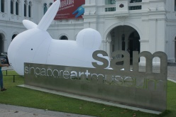 Singapore Art Museum and the popular inflatable rabbit