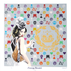 Luxury Vandals Drew, 2010, 13 colour screen print on 300 gsm Fabriano paper, 24 3/4 x 24 3/4 inches ; 54 x 54 cm